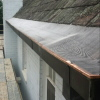 Stainless Steel Leafguard installed with Copper Trim - Ivanhoe (image)