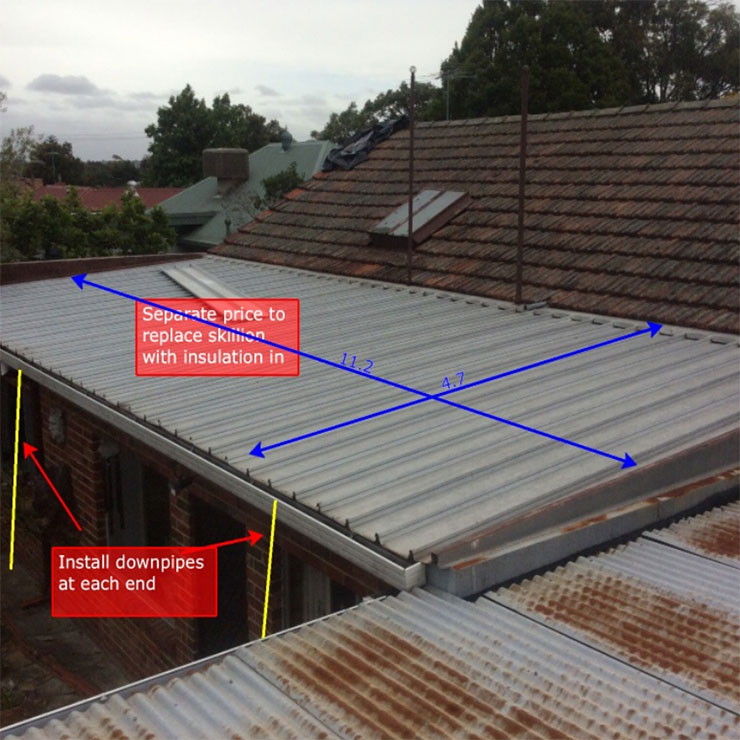 garage conversion ideas australia - Tiled Roof Replacement with Colorbond Steel Roof