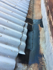 liquid membrane to box gutter and patch rather than replace (image)