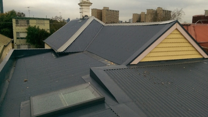 Colorbond Metal Reroof With Velux Skylight Flemington