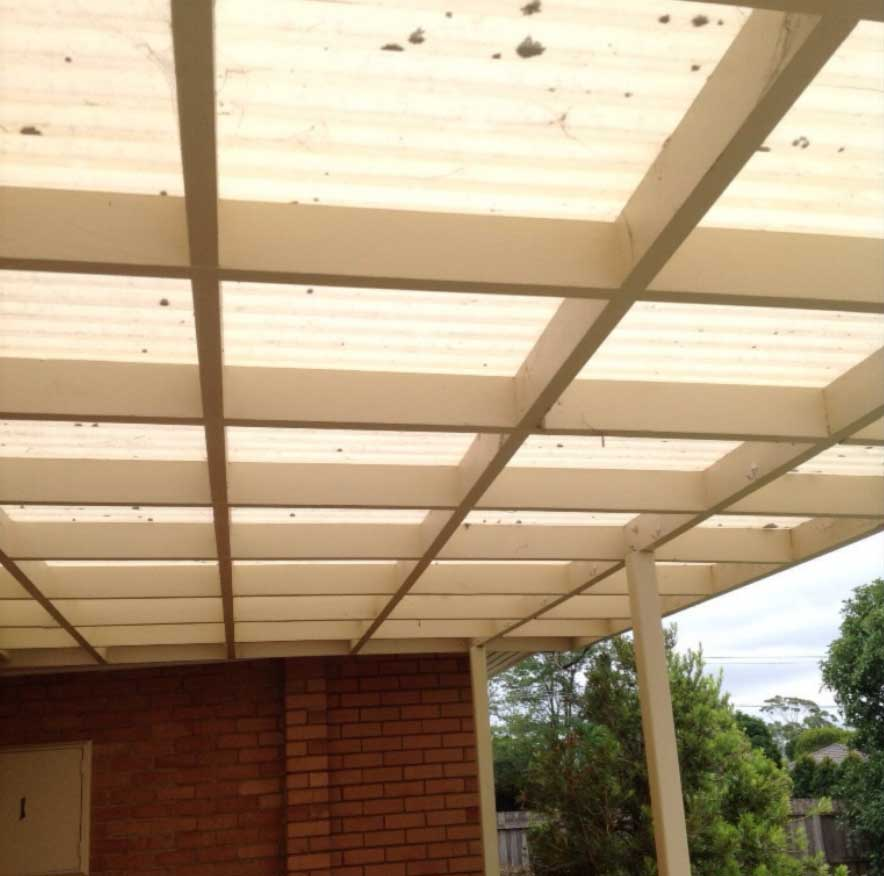 Polycarbonate Pergola Roof before reroof - Reservoir (image)