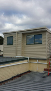 Colorbond corrugated wall cladding installed - Doncaster East (image)
