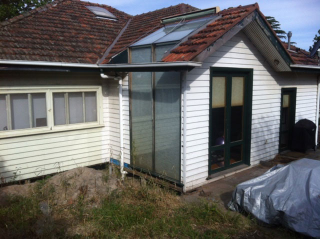 Rosanna project before wall cladding (image)