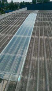 Commercial fibreglass sheet replaced (image)