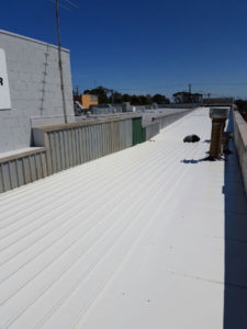 Klip-Lok commercial roof and side flashings replaced - Melbourne (image)