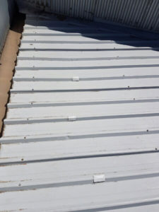 Patches installed to roof splits - Melbourne (image)