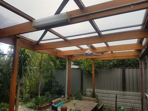 Polycarb roof replaced with multiwall - after - Brunswick (image)