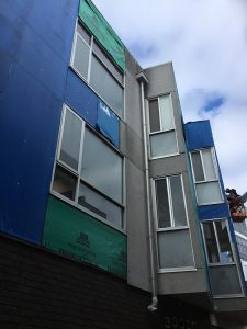 Apartment Building Cladding Replacement West Melbourne | Mid Project | Roofrite