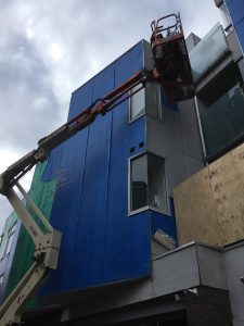 Apartment Building Cladding Replacement West Melbourne | Working Safely | Roofrite