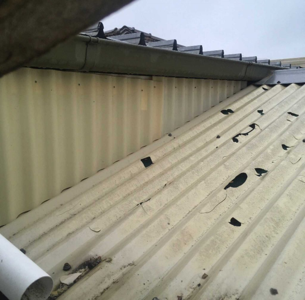 Hail damaged polycarbonate roofs repaired - Melbourne (image)