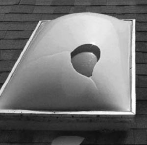 Hail Damaged Skylights and Domes | Melbourne | Roofrite