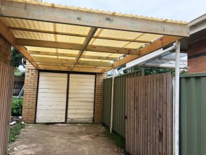 Carport reframed with new polycarb roof - Ivanhoe East (image)