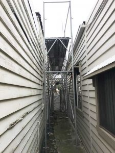 Victorian Weatherboard Metal Reroof | Scaffold for Safe Work Access | Replacement Roof Brunswick | Roofrite