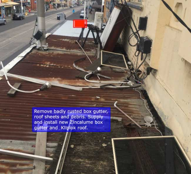 Replace Shopfront Metal Verandah Roof Thornbury | Before | Melbourne | Roofrite