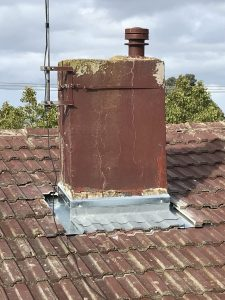 Water Ingress Through Chimney | Blocked Chimney Flashing Installed | Melbourne | Chimney Leaks | Roofrite