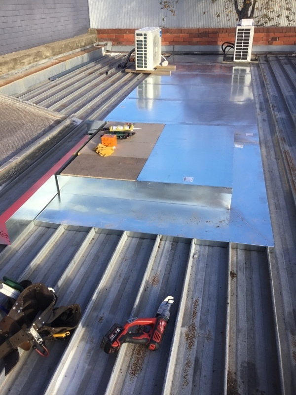 Commercial Roof Repairs Hopper Flashings Altona Roofrite