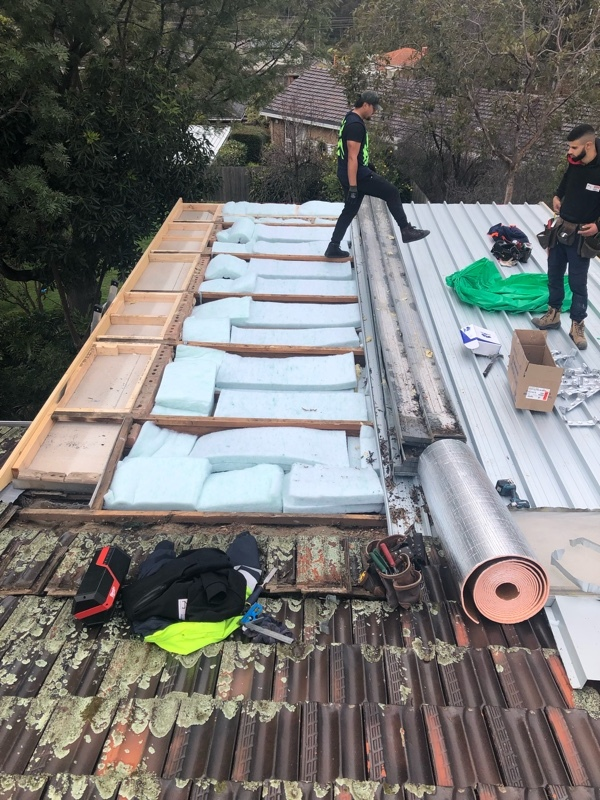Insulation Batts Installed during Roof Replacement - Rosanna