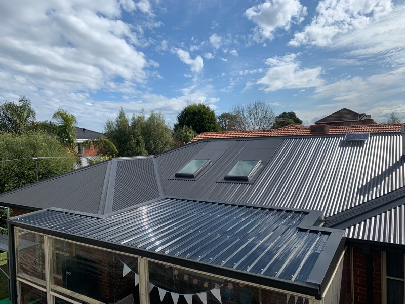 Tile to Metal Reroof and polycarbonate reroof Knoxfield (image)
