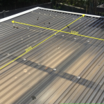 Hail Damaged Polycarbonate Roofing and Skylights