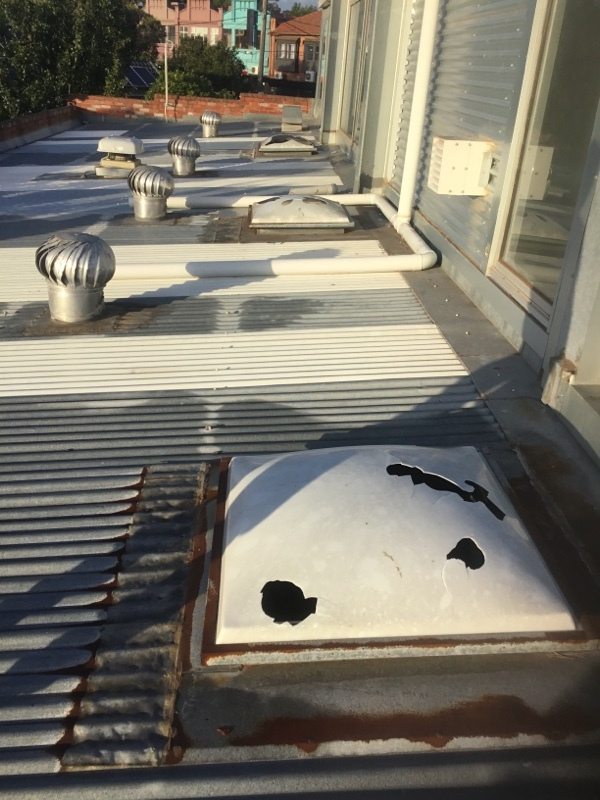 Hail Damaged Skylights | Roofrite