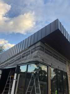 Standing Seam Cladding School Installation   Roofrite Melbourne