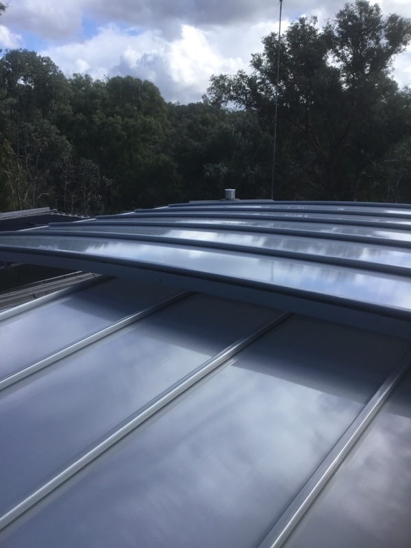 Curved Hail Damaged Multiwall Polycarbonate Roofing Replaced | After | Warrandyte | Melbourne | Roofrite