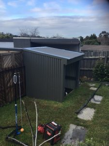 Colorbond Roofing and Cladding Installed to Pool Shed | Doncaster | Melbourne | Roofrite