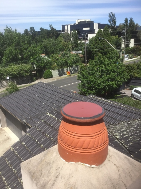 Chimnet Capping form terracotta Chimney   Hawthorn East   Roofrite