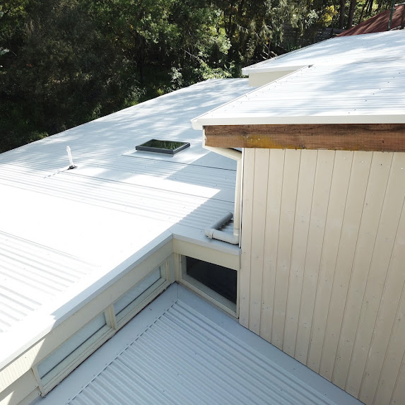 Colorbond Reroof With Velux Skylights And Cement Sheet Cladding   Melbourne   Roofrite