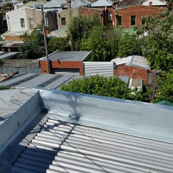 Zinc Flashings and Cappings installed - Carlton North (image)