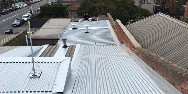 corrugated iron reroof and flues installed - Malvern (image)