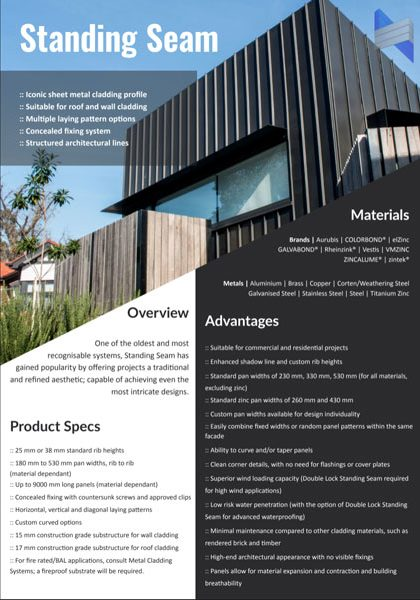 Wall Cladding Brochures | Melbourne | Roofrite